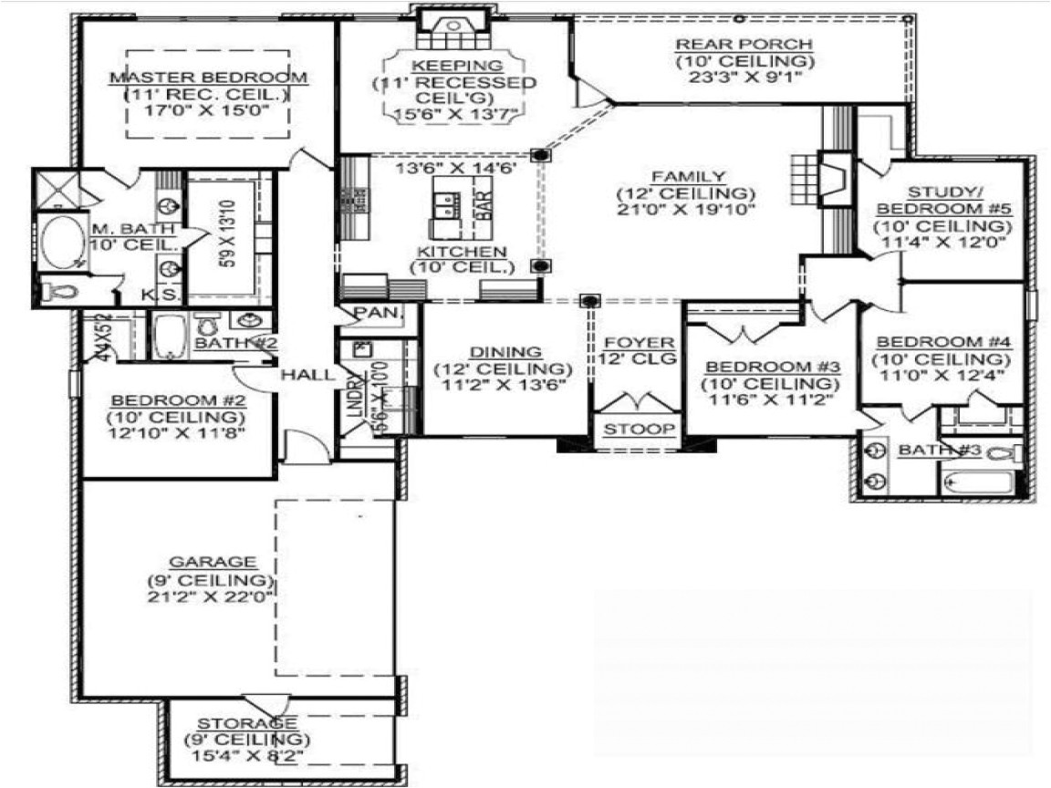 a37deeb46a1c9e36 15 story square house plans 1 story 5 bedroom house plans