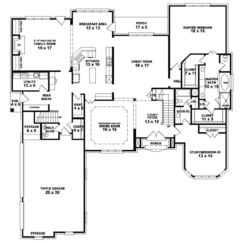 653924 1 5 story 4 bedroom 2c 4 5 bath french country style house plan