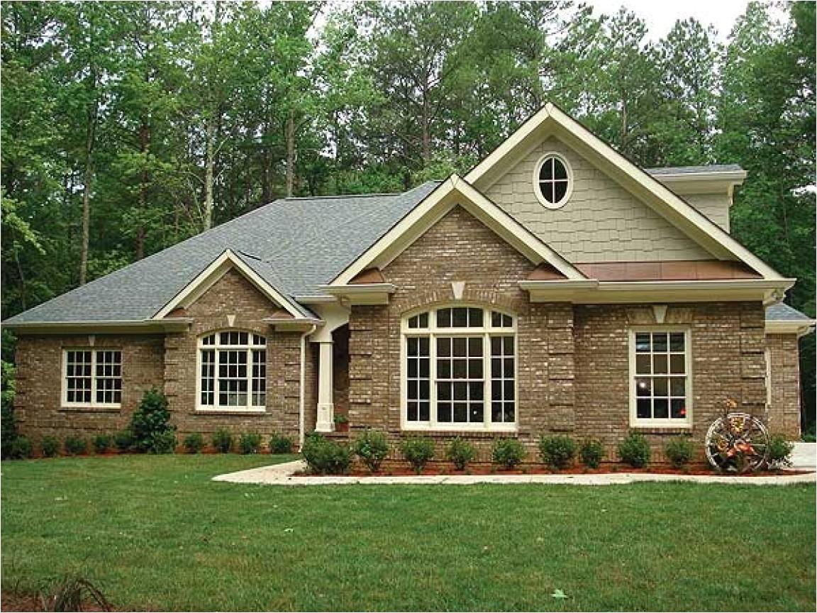 58e79a51e5db3f35 brick ranch house plans brick one story house plans