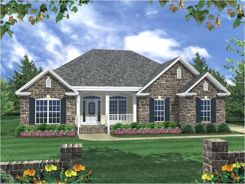 front exterior one story house designs