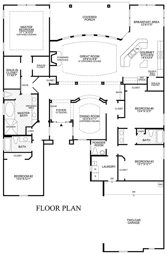 one story house plans with media room