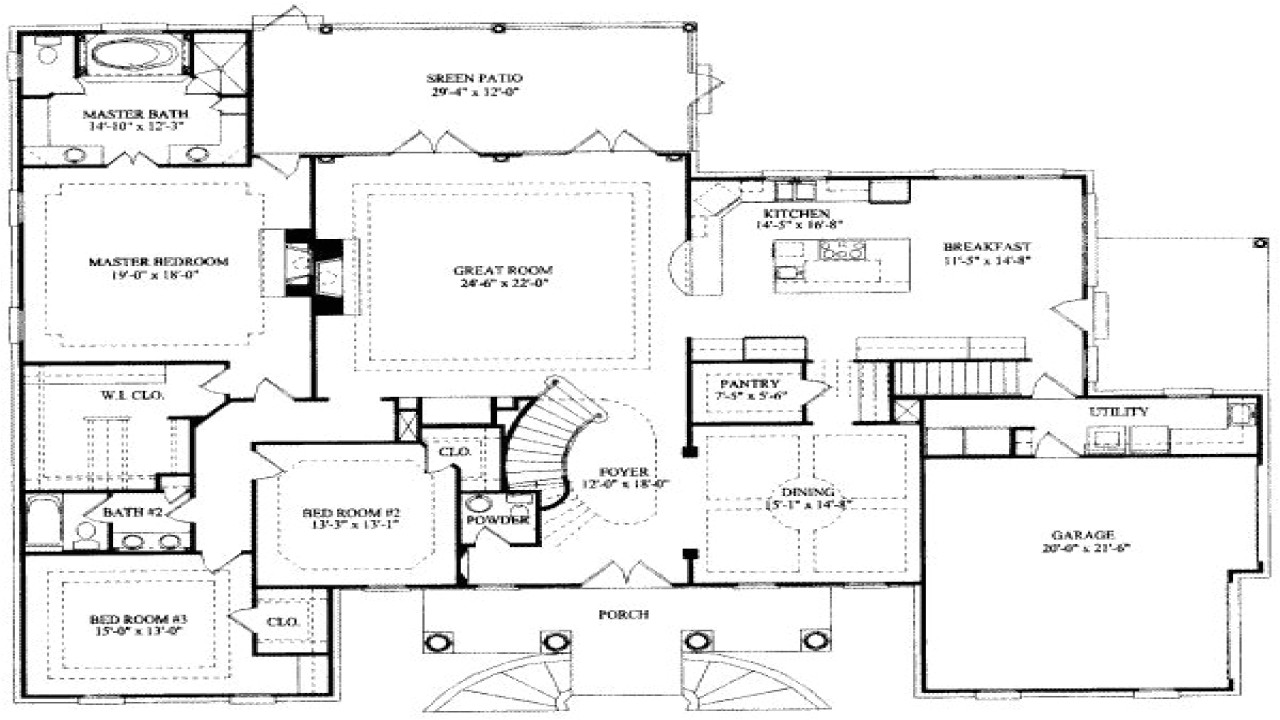 7 8 bedroom house plans