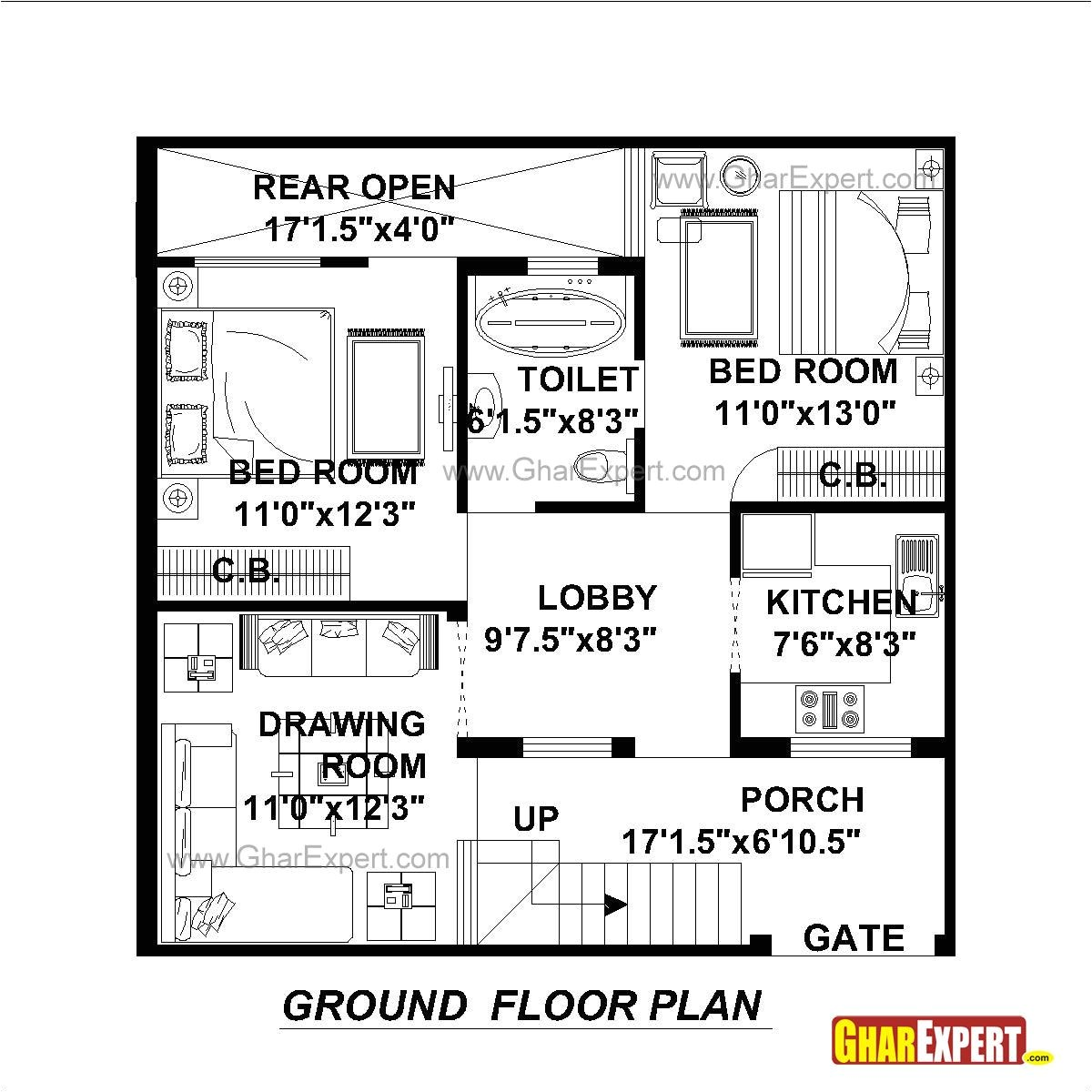 100 Sq Ft Home Plans Duplex House Plans In 100 Sq Yards House Plan 2017