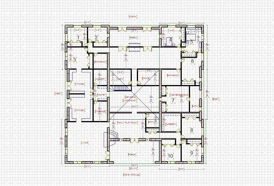 10000 sq ft house plans