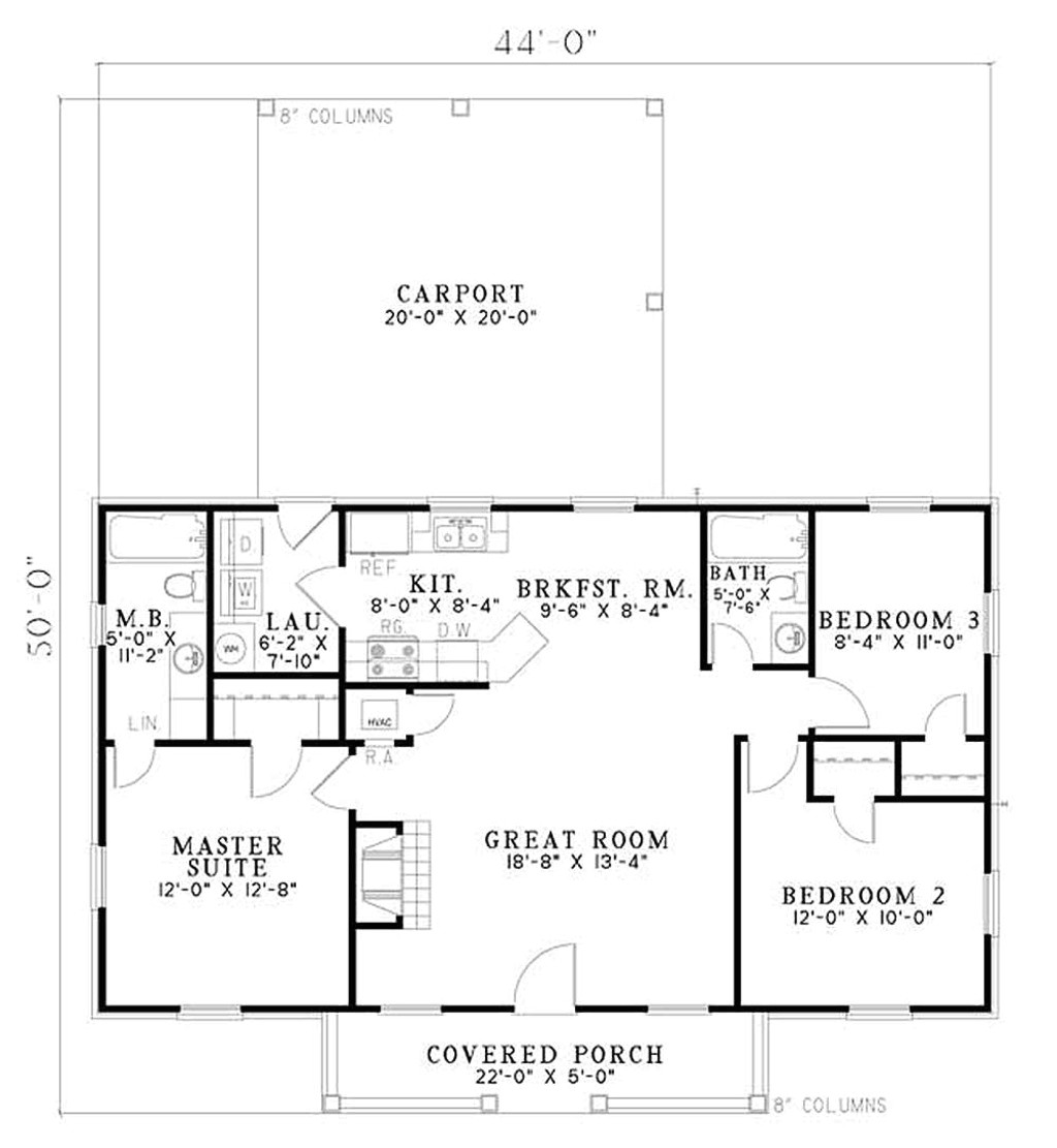 1100 square feet 3 bedrooms 2 bathroom traditional house plans 0 garage 26591