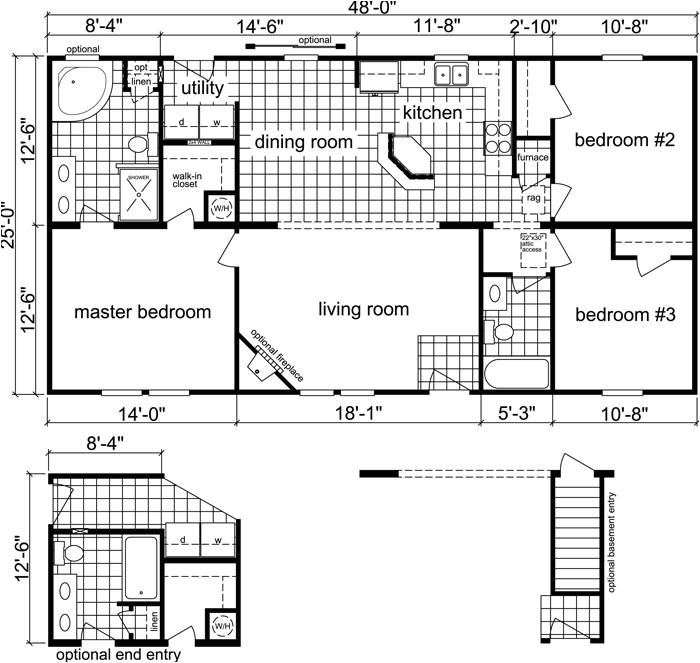 1200 Square Foot House Plans with Basement 3 Bedroom 2 Bath 1 200 Sq Ft Alleghany 1200 Sq Ft