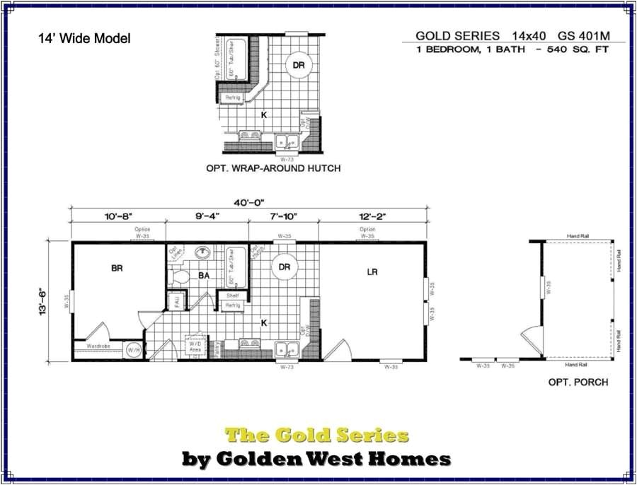 14 X 40 House Plans 14×40 Cabin Floor Plans