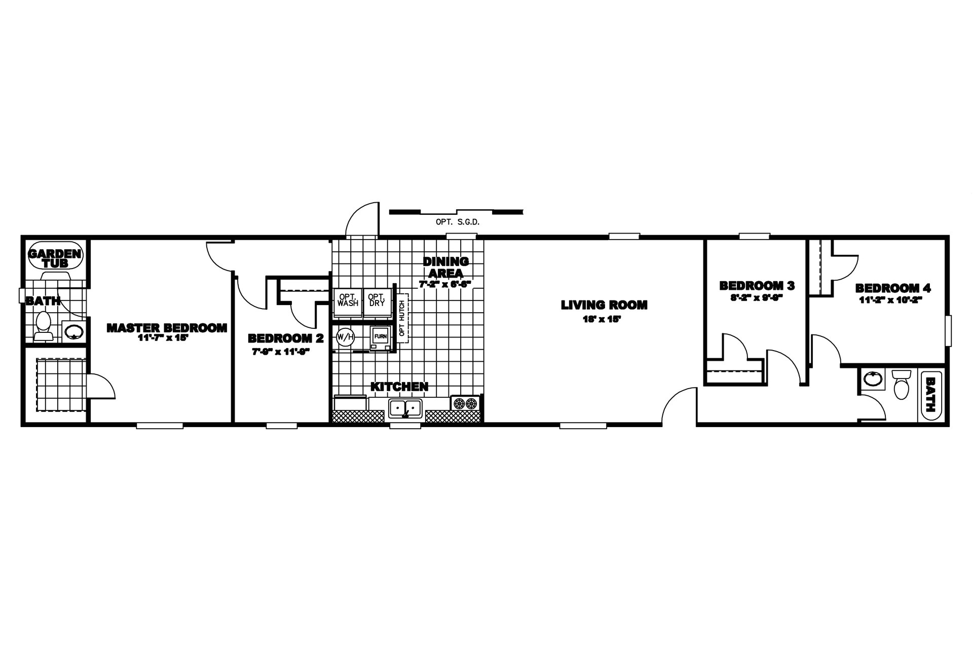 mobile home floor plans 2 bedroom 2 bathroom single