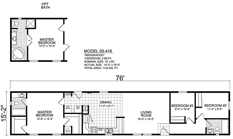 16 Wide House Plans 16 Wide Mobile Home Floor Plans Luxury Single Wide Mobile