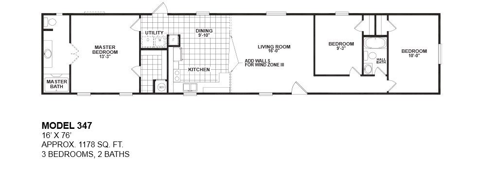 16 wide mobile home floor plans