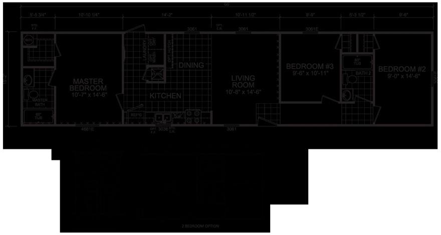 16 wide mobile home floor plans