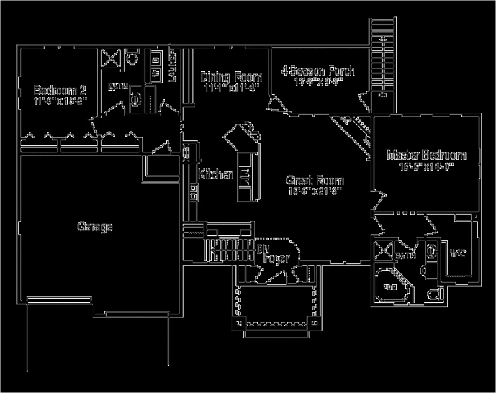 1600 square feet 2 bedrooms 2 bathroom traditional house plans 2 garage 8810