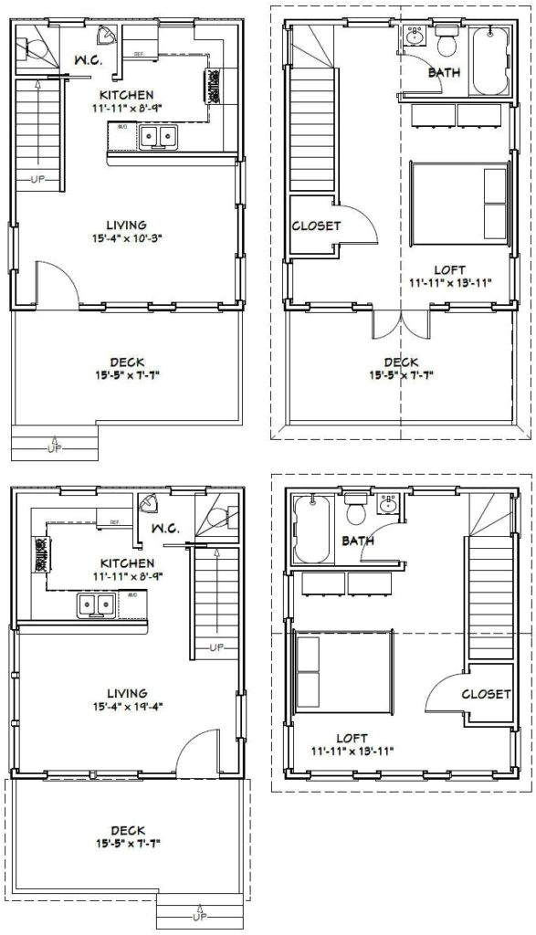 16×20 2 Story House Plans Home Design Cottage Plans On Dog Trot House Cabin Floor