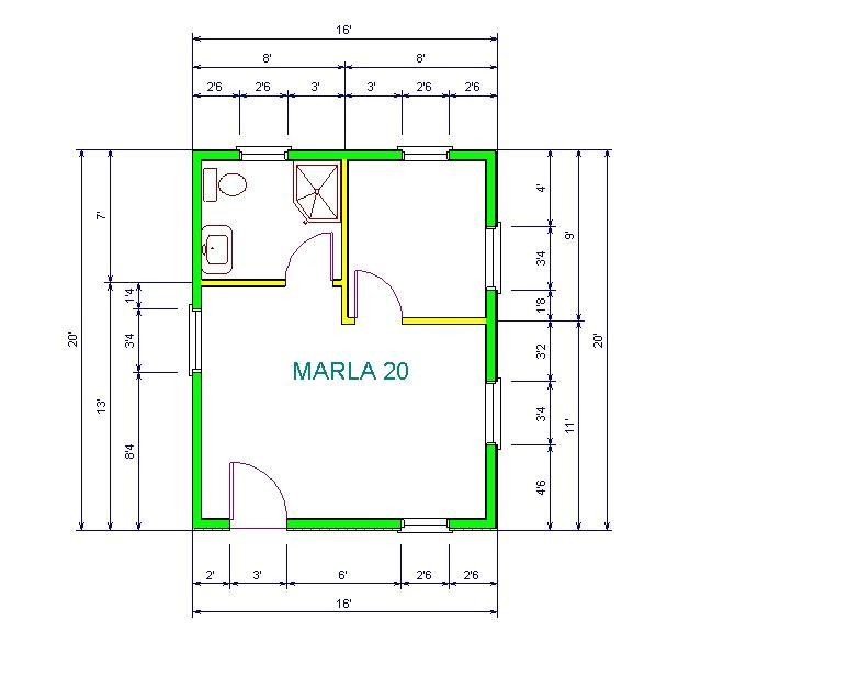 16x20 house plans