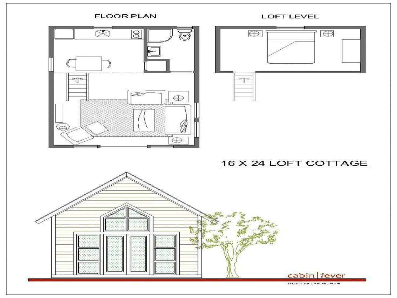 16×20 House Plans with Loft 16×24 Cabin Plans with Loft 16×20 Cabin Floor Plans Small