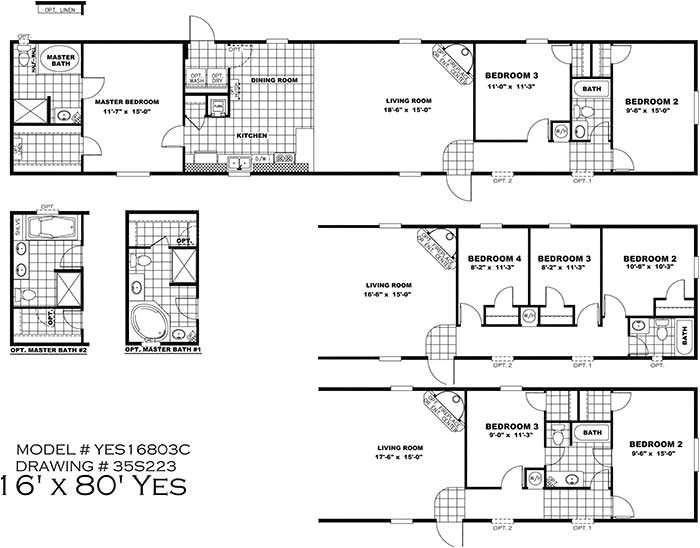 16x80 mobile home floor plans fresh clayton yes series mobile homes 1st choice home centers