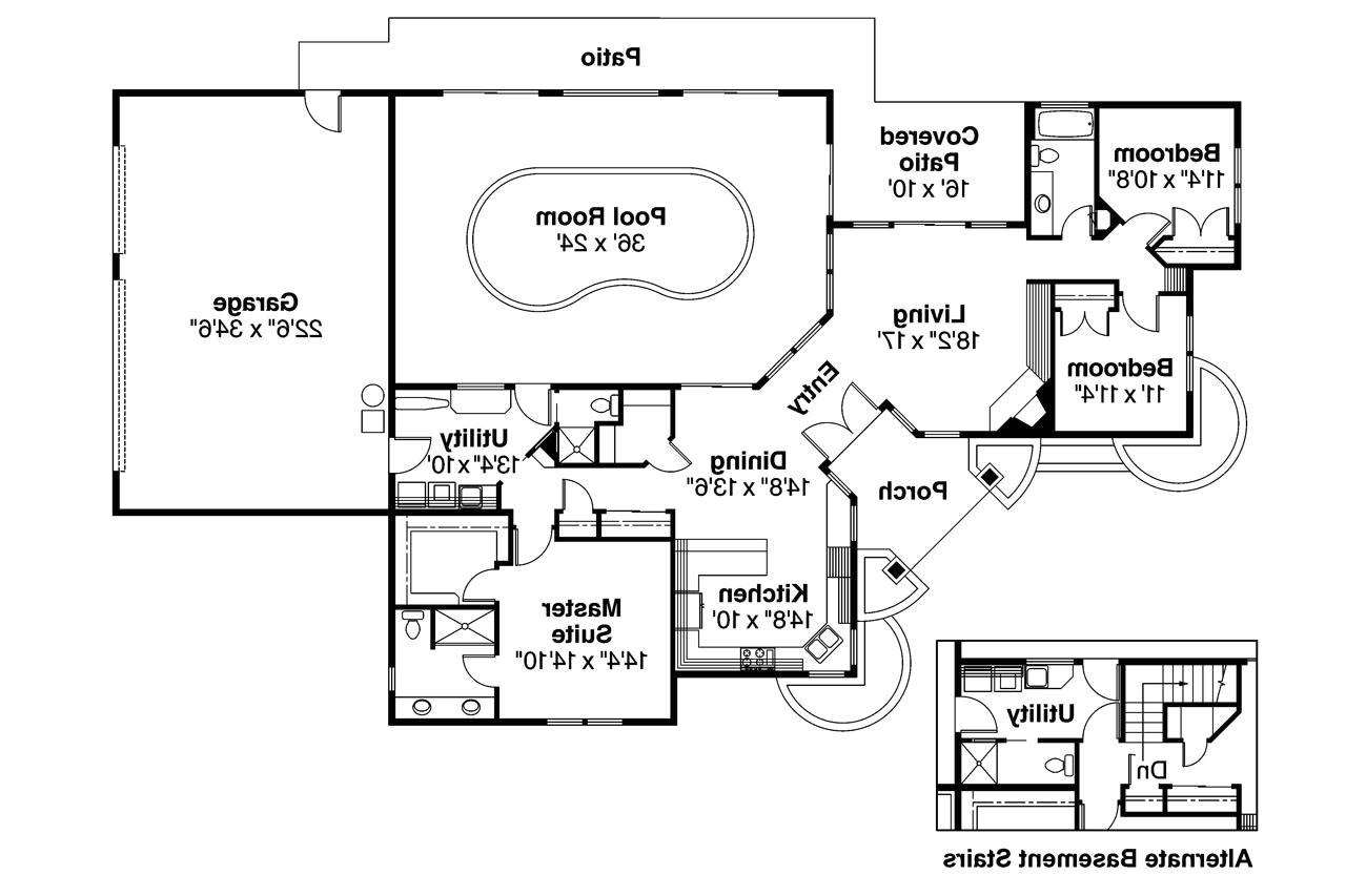 1800 sq ft house plans walkout basement 2 bedrooms