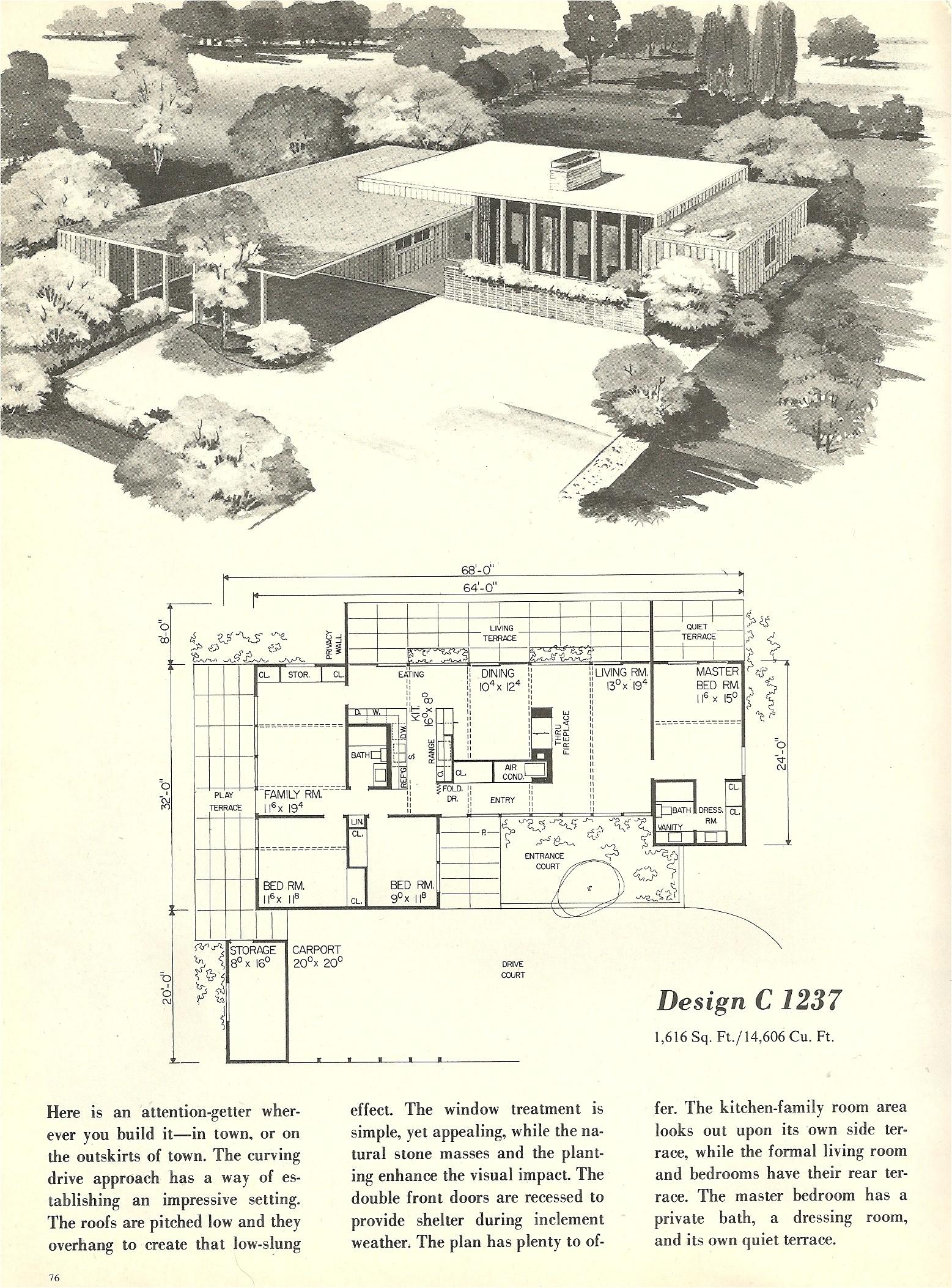 vintage house plans 1237