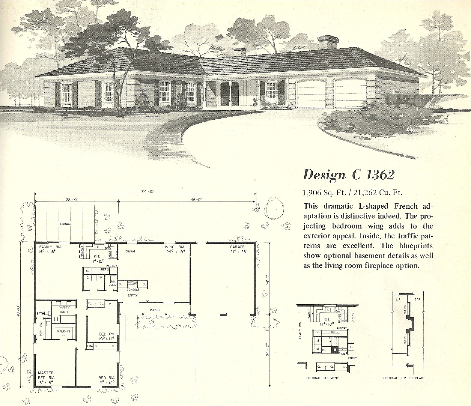 vintage house plans 1362