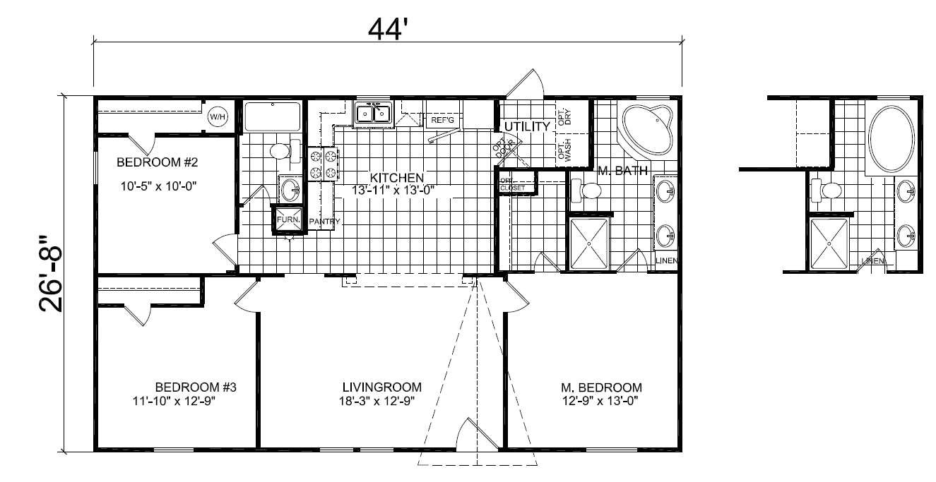 1999 Champion Mobile Home Floor Plans Double Wide Mobile Home Floor Plans Double Wide Mobile