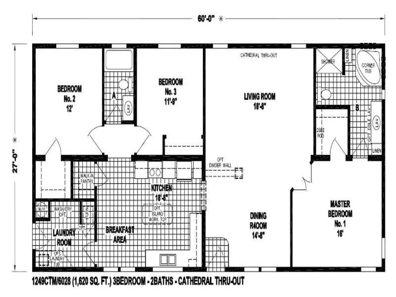 floor plans for mobile homes double wide
