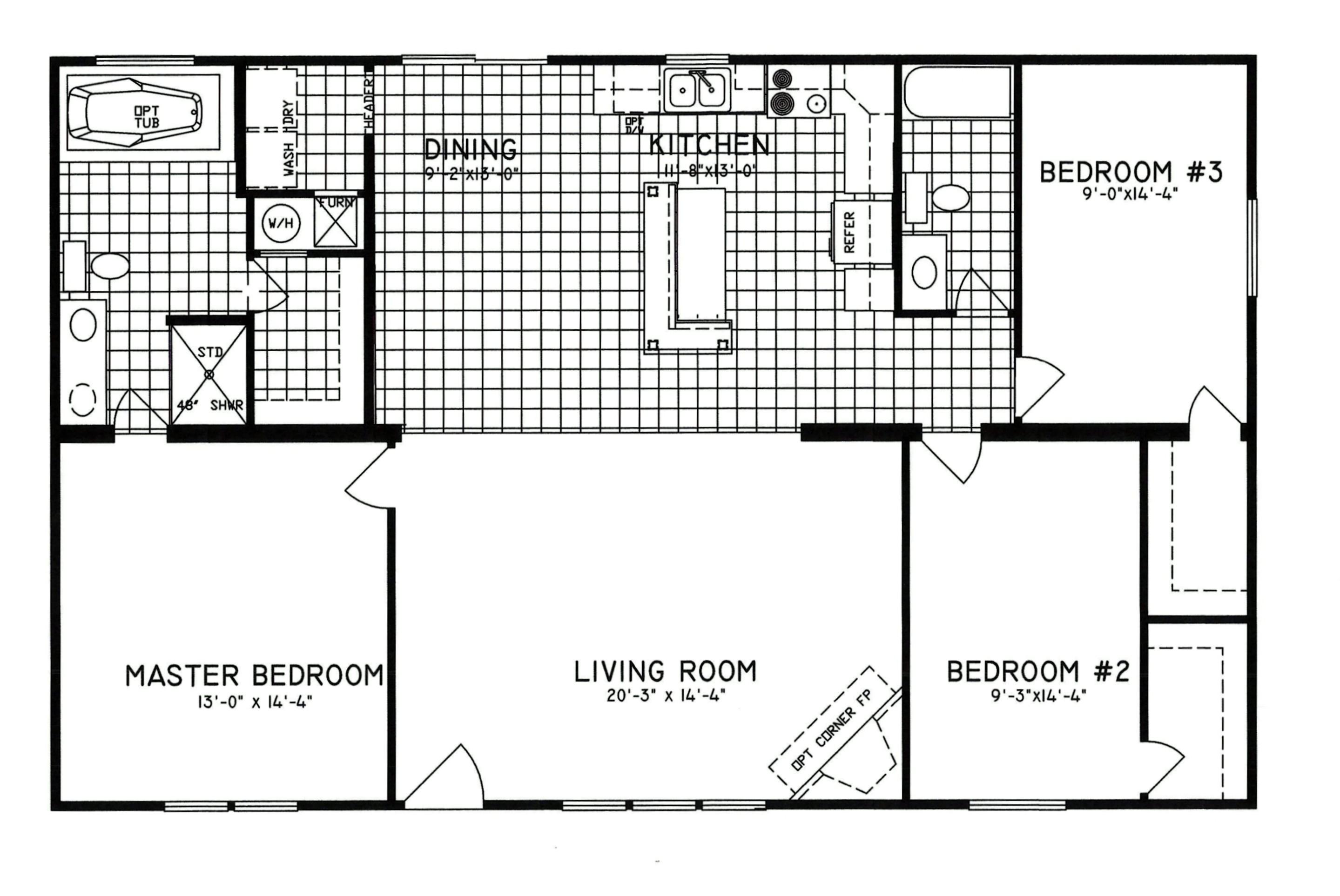 1999 redman mobile home floor plans