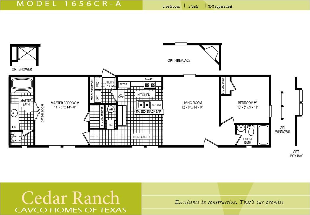 2 bedroom 2 bath single wide mobile home floor plans - 2 Bedroom Mobile Home Plans