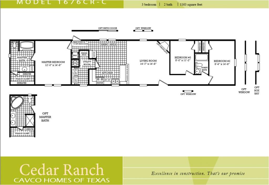 mobile home floor plans 2 bedroom 2 bathroom single