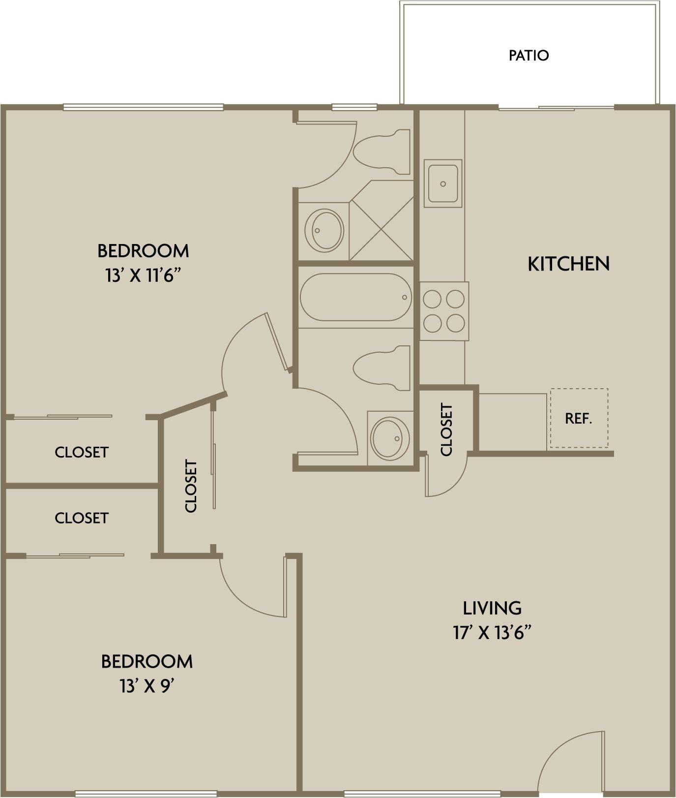 2 bedroom 2 1 2 bath house plans