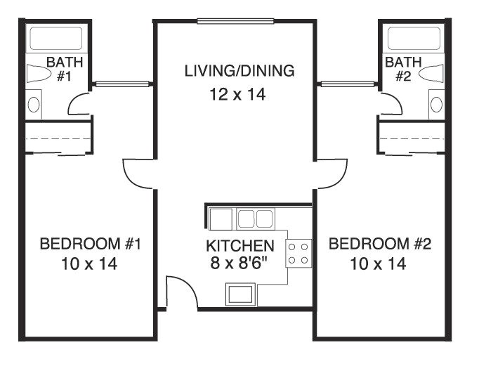 house plans 2 bedrooms 2 bathrooms