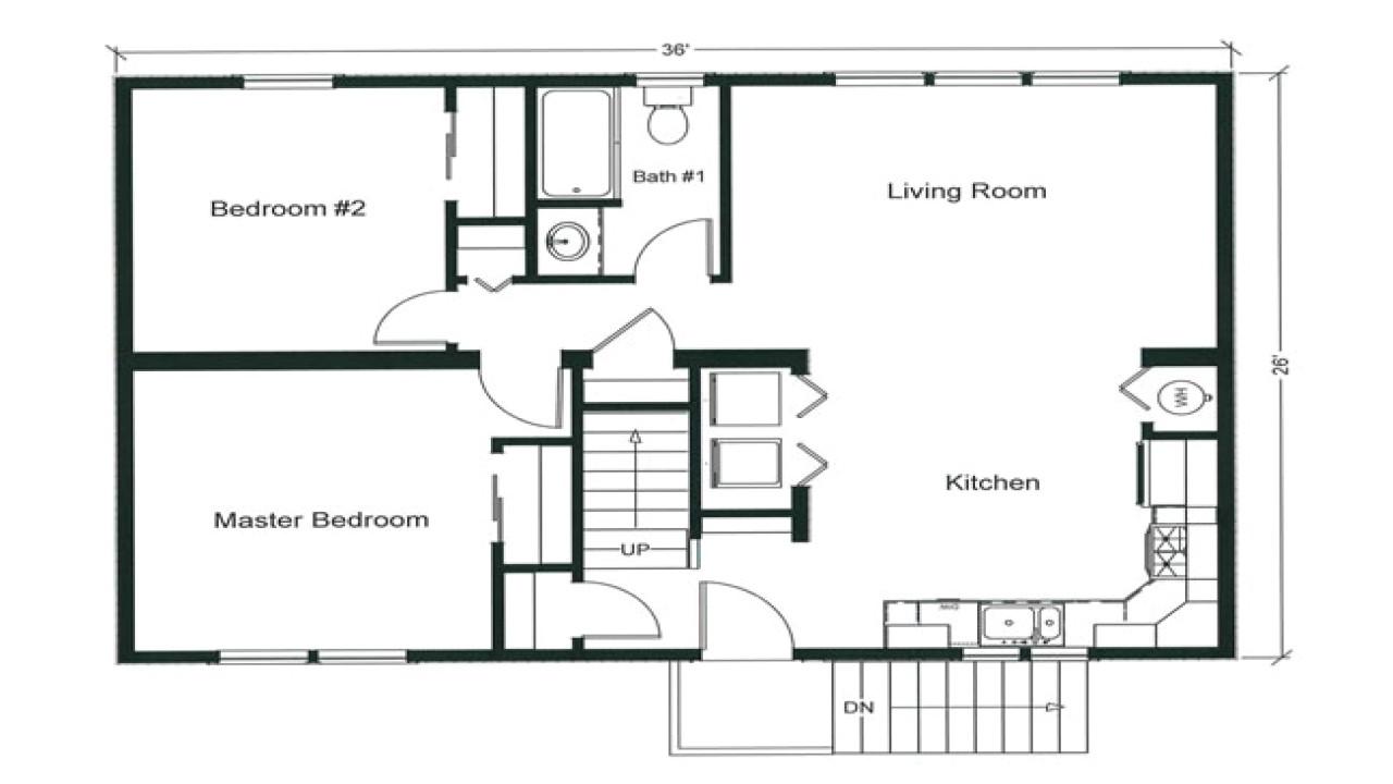 2 Bedroom Home Floor Plans 2 Bedroom Apartment Floor Plan 2 Bedroom Open Floor Plan