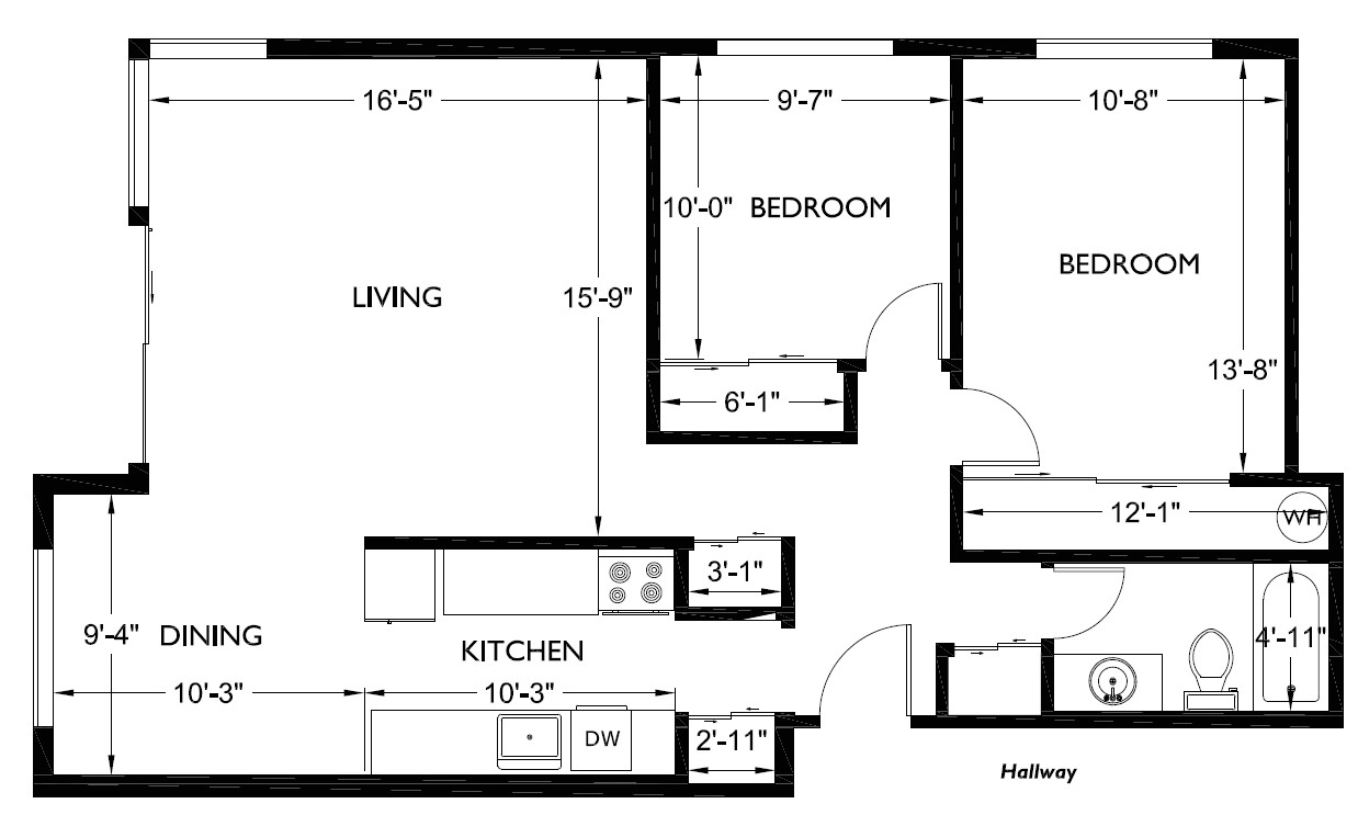 2 Bedroom Home Floor Plans Two Bedroom House Floor Plans Com with for A Best Popular