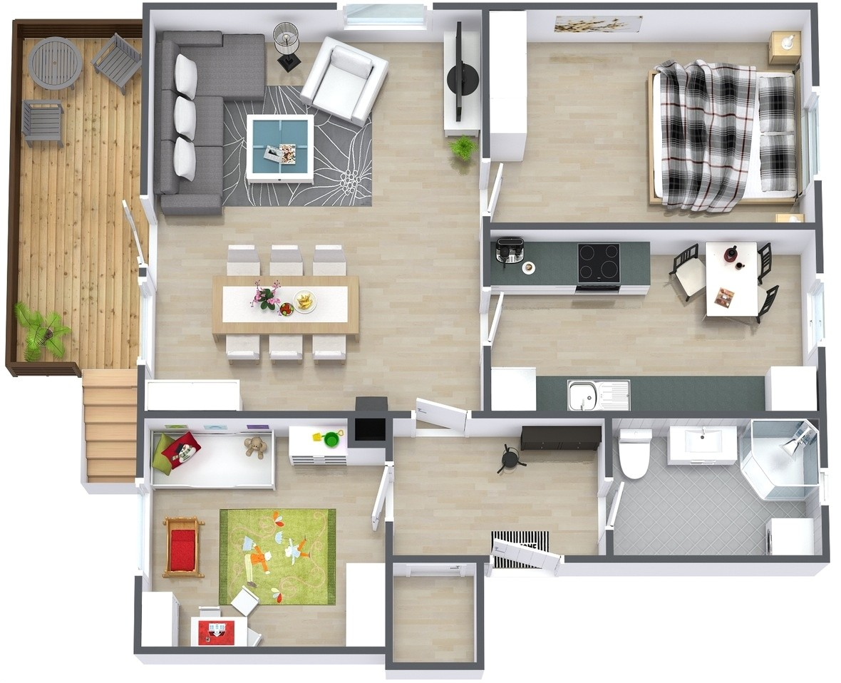 simple two bedroom house plan