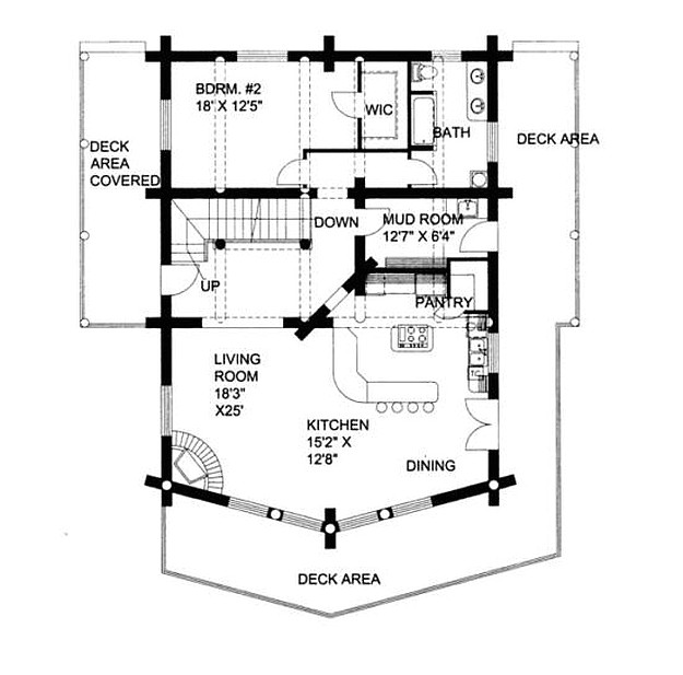 174 plan 039 00003 2 bedroom 2 bath