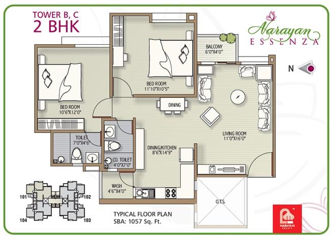 24 decorative 2 bhk house plan
