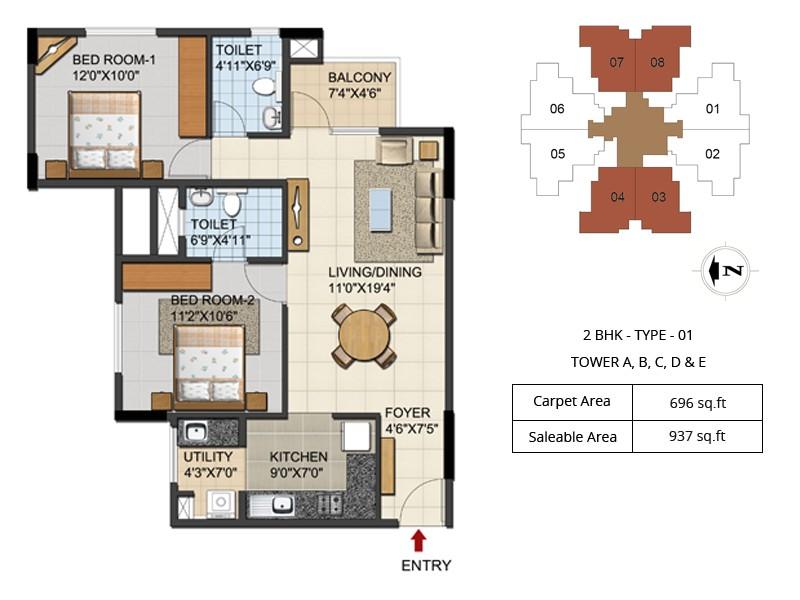 urbana aqua floor plans