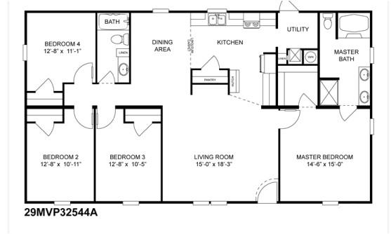 doublewide home floor plans
