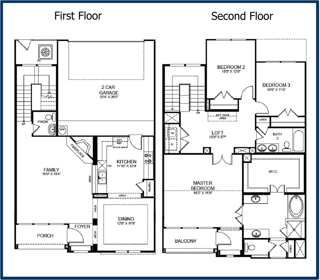 2 storey house floor plans with diions
