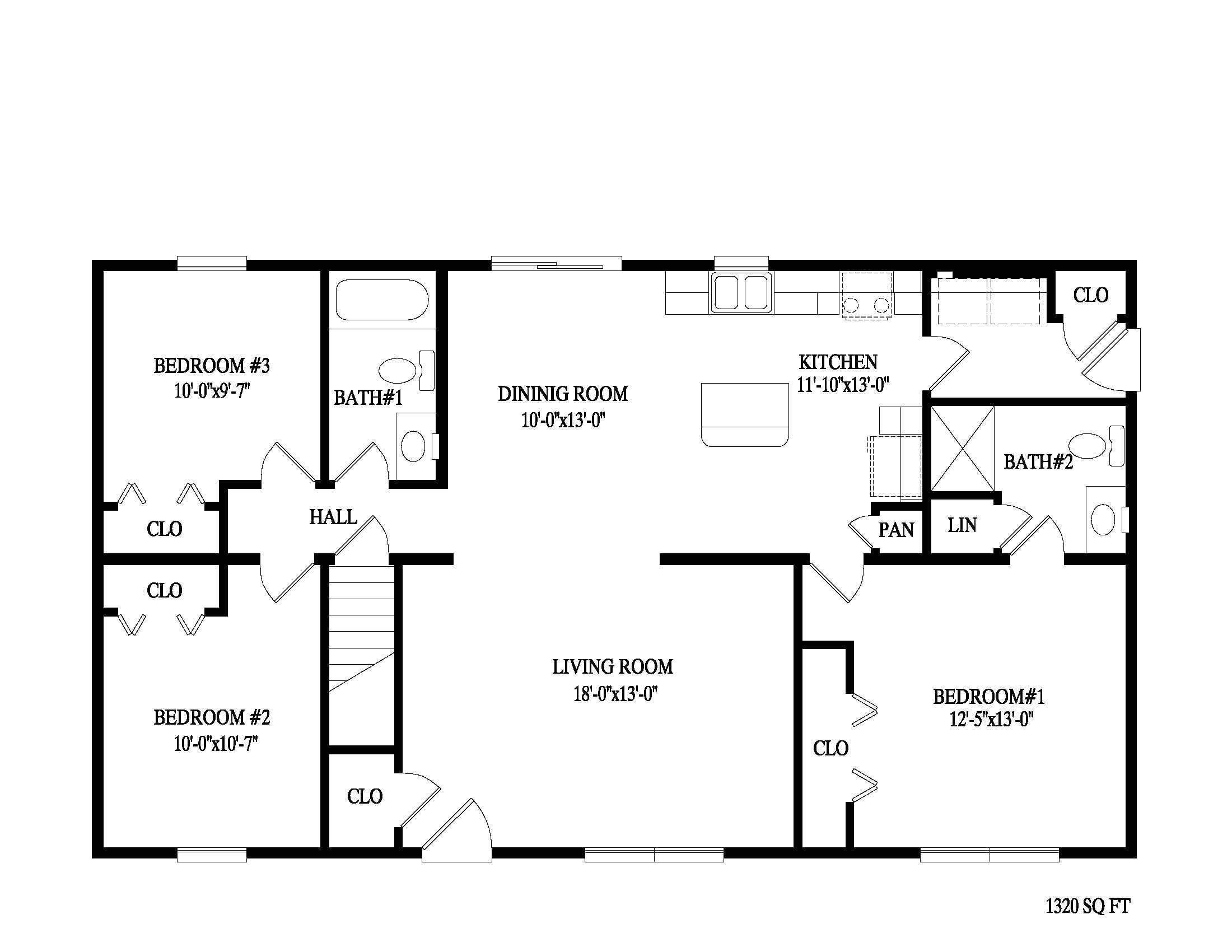 fascinating 2 bedroom ranch floor plans ideas including split three two bath gallery with style house plan beds baths pictures
