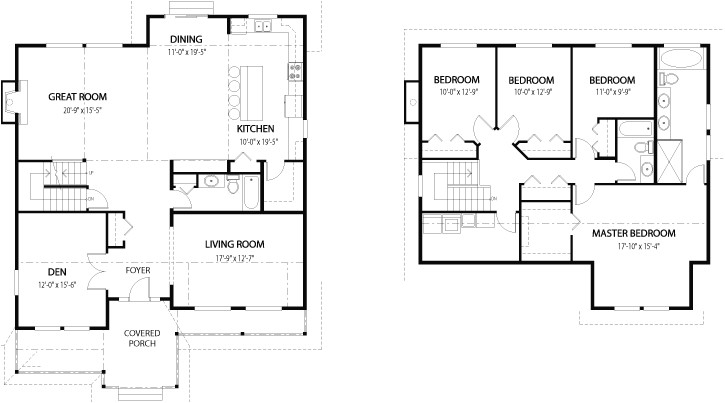 house floor plan 2 floors