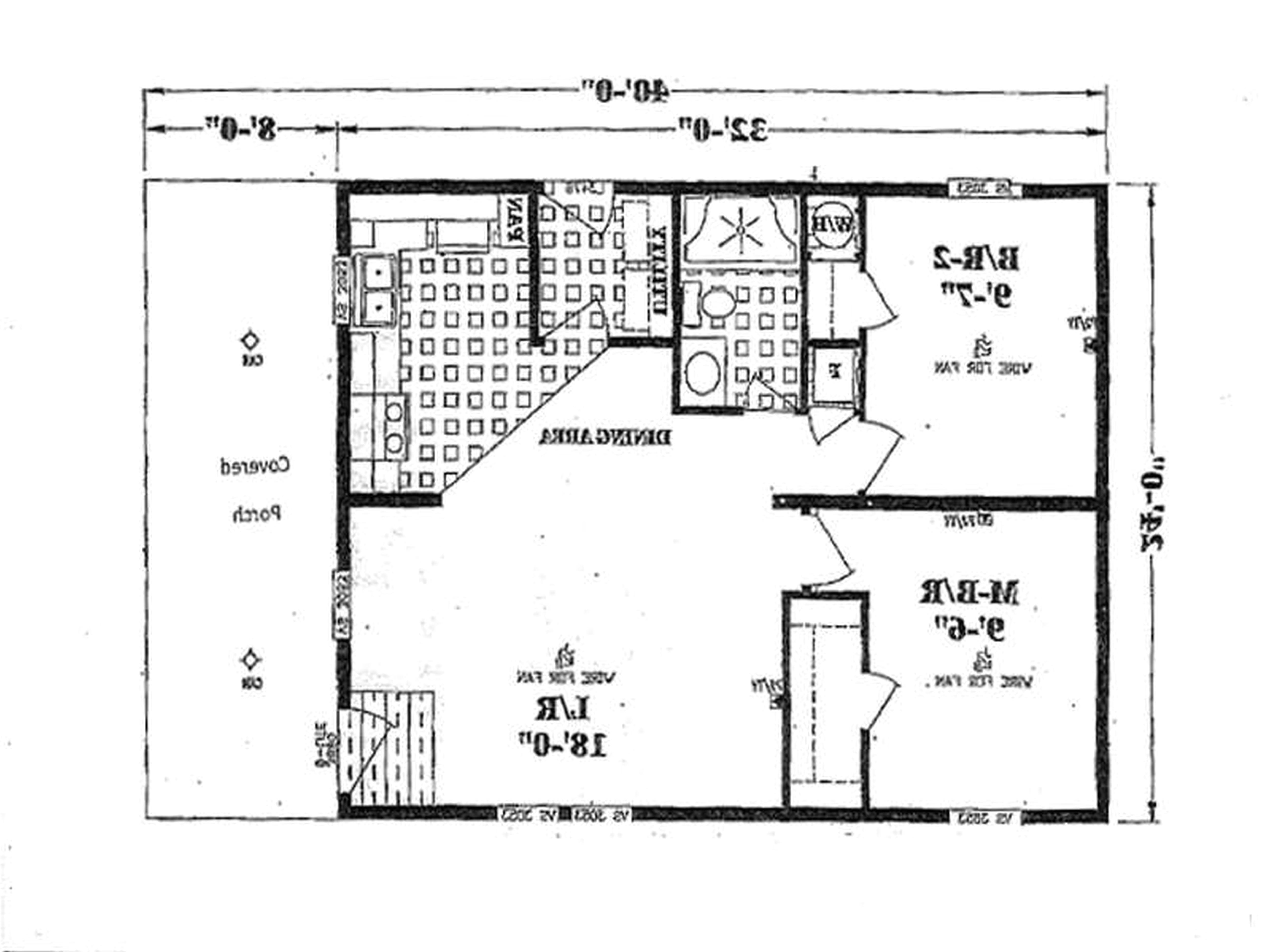 mobile home floor plans under 1000 sq ft