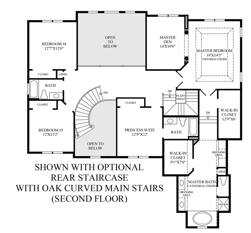 2 Story House Plans with Curved Staircase House Plans with Curved Staircase