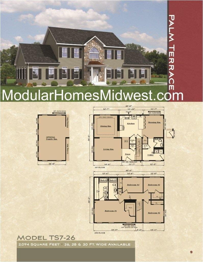 modular home floor plans 2 story