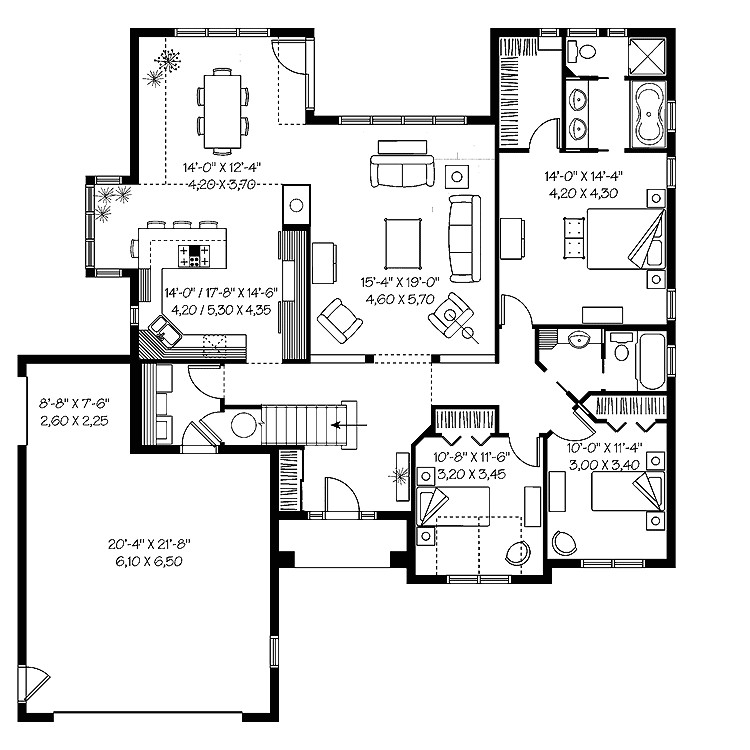 two story house plans under 2000 square feet