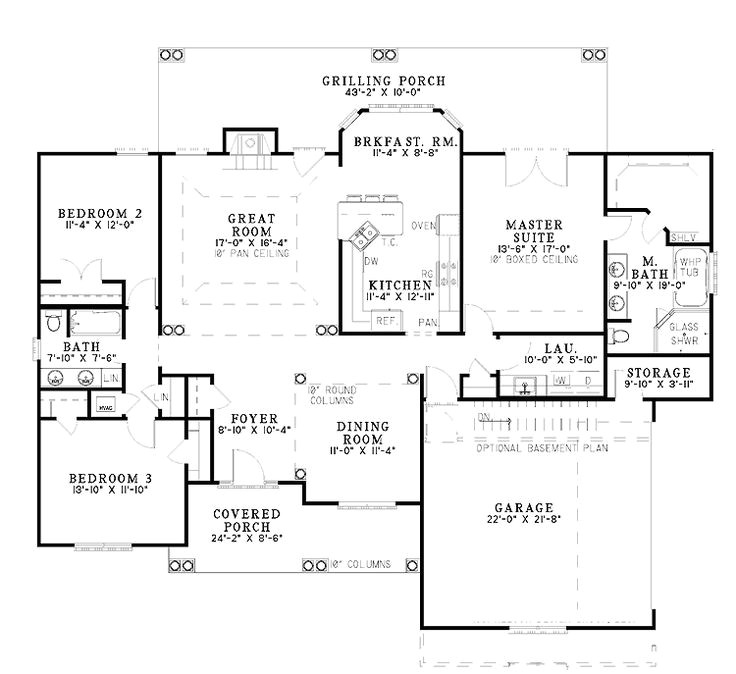 open house plans under 2000 square feet