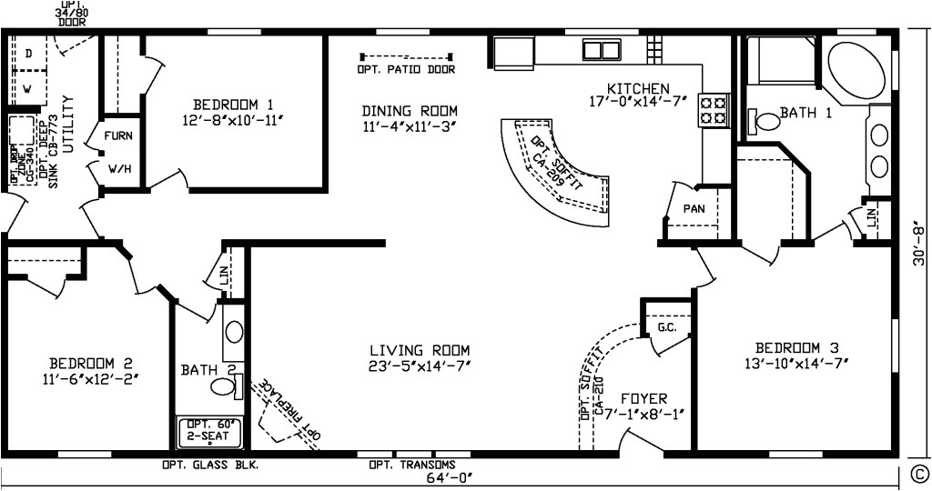 ranch house plans under 2000 square feet
