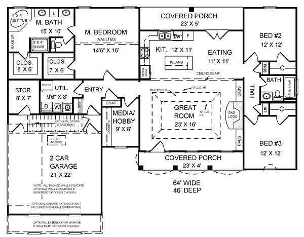 house plans 2000 square feet ranch