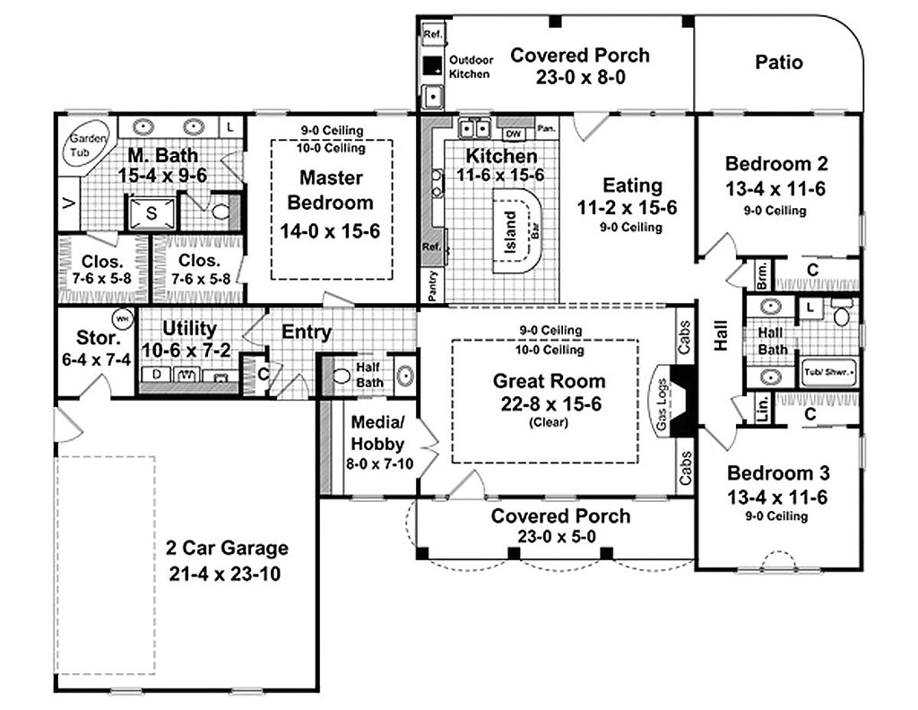 2000 square feet 3 bedrooms 2 5 bathroom french country plans 2 garage 25108