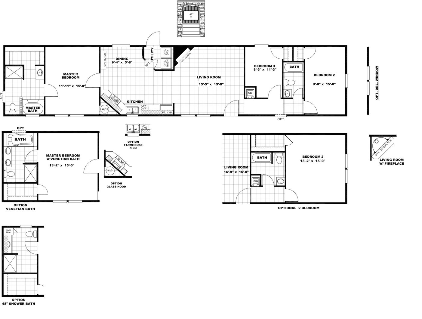 2005 fleetwood entertainer mobile home floor plan
