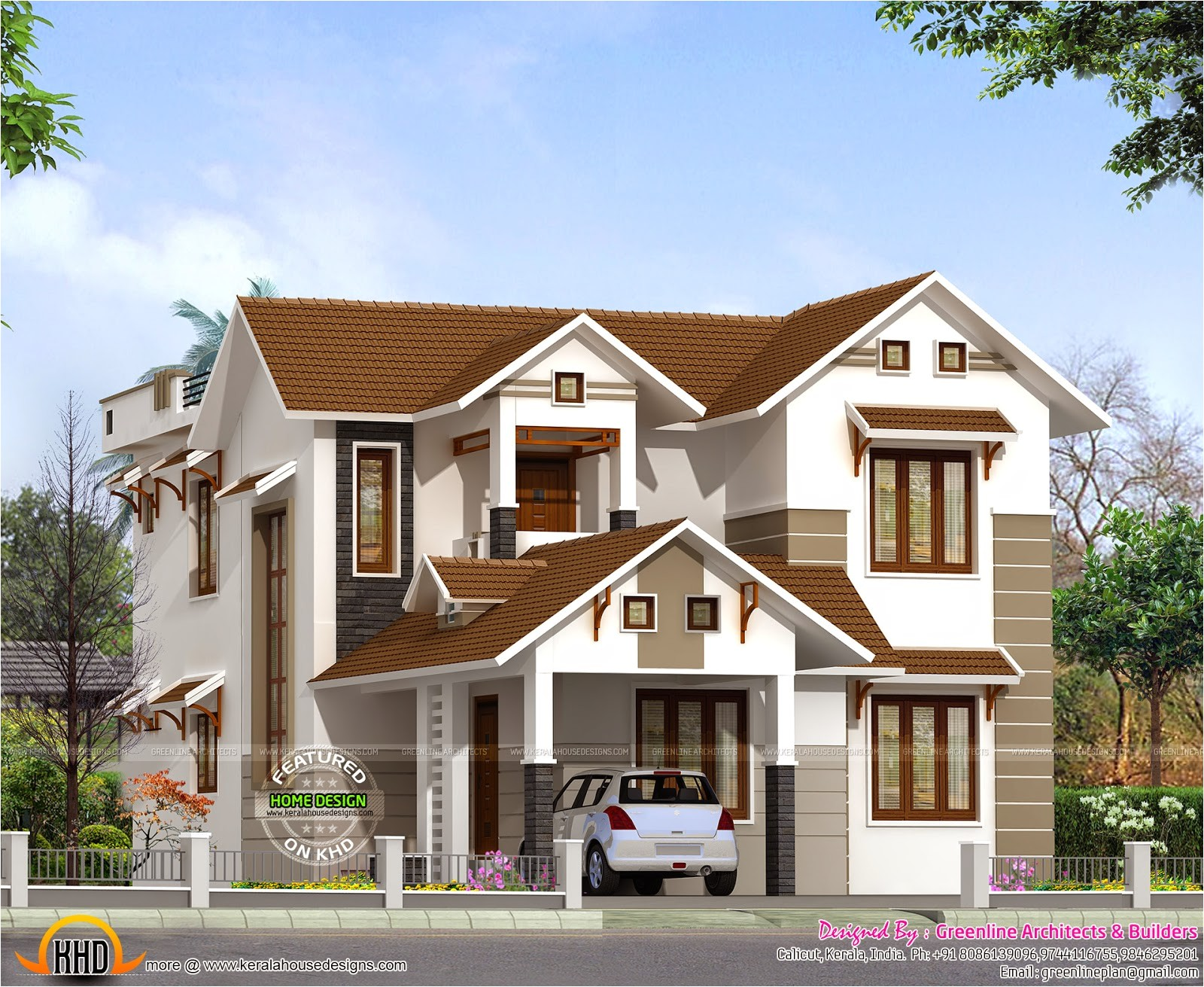 2015 Home Plans 2015 Sq Ft Sloping Roof Home Kerala Home Design and